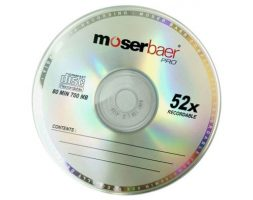 Moserbaer CD RW with case