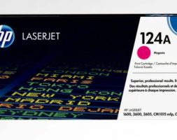 HP 124A Magenta Original LaserJet Toner Cartridge, Q6003A