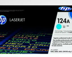 HP 124A Cyan Original LaserJet Toner Cartridge, Q6001A