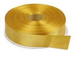 SATIN RIBBON 1/2 INCH SILVER/GOLDEN