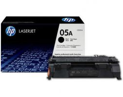 HP 05A Black Original LaserJet Toner Cartridge-CE505A