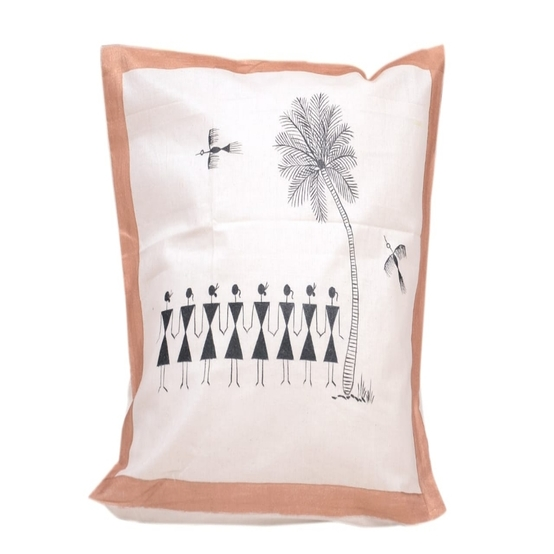 Hand Painted Cotton Cushion Covers(Pack of 1)