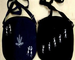 Hand Painted Jeans Duffel Bag
