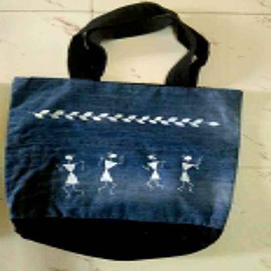 Hand Painted Jeans Tote Bag/Gym Bag