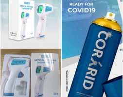 Thermometer & Corrid Spray Combo