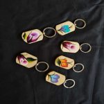 Hand-Painted Wooden Keychain