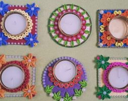 Handcrafted Eco-Friendly Assorted Diyas-Set of 2