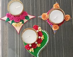 Handcrafted Eco-Friendly Diyas-Set of 2