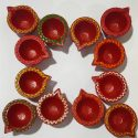Beautifully Handcrafted Diya's (Set of 12)