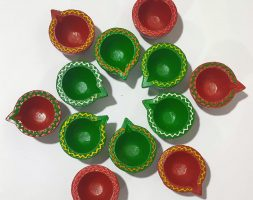 Beautifully Handcrafted Diya's Assorted (Set of 12)