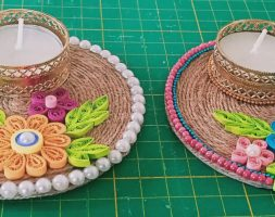 Handcrafted Eco-Friendly Diyas Set – 2
