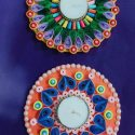 Handcrafted Eco-Friendly Disc Size Diyas-Set of 2