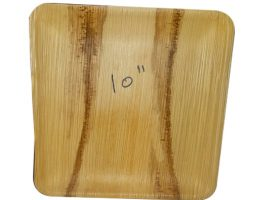 Areca Plates 10 inch's Square  Pack of 25
