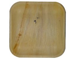 Areca Plates 9 inch's Square  Pack of 25