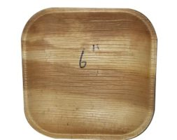 Areca Plates Square 6 inch's  Pack of 25